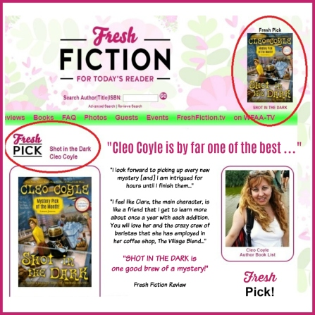 Cleo-Coyle_Shot-in-the-Dar_FreshFiction_Fresh-Pick